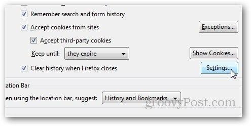 Firefox HIstory Delete 5