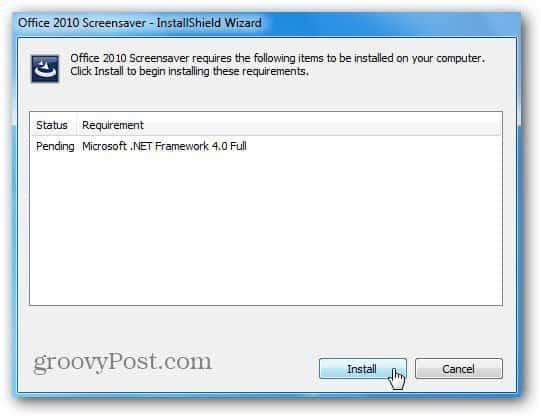 Install .Net Framwork