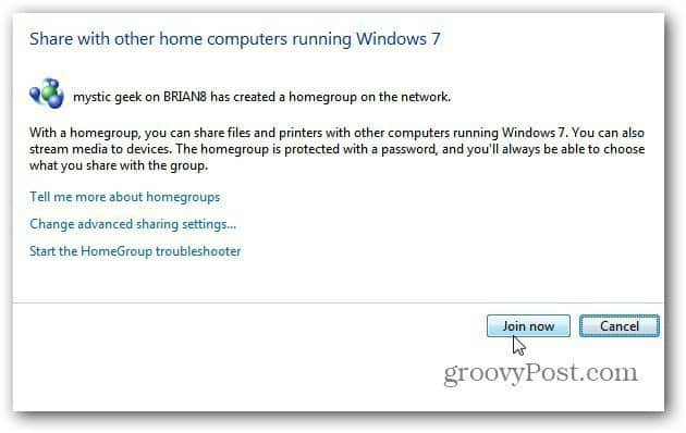 Set Up Windows 8 HomeGroup Sharing with a Windows 7 PC