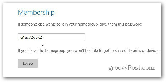 Membership Password