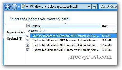 .NET Updates