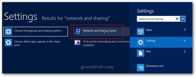 Network and Sharing