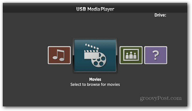 Roku USB Media Player Categories