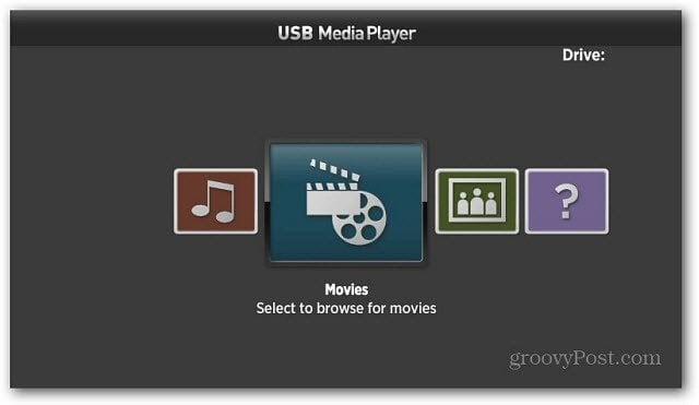 Roku USB Media Player Categories
