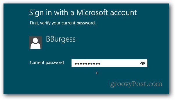 Sign into MS Account