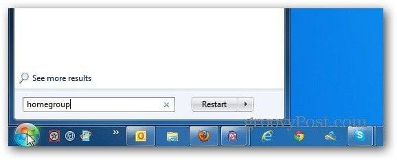 Start Search Windows 7
