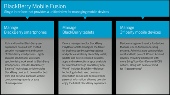 BlackBerry Fusion Overview