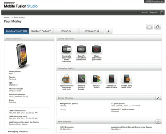 BlackBerry Fusion Studio