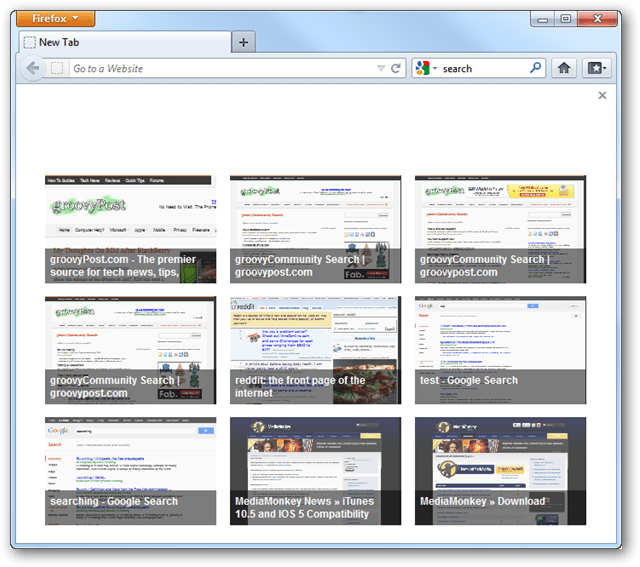 firefox speed dial new tab page
