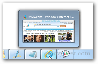 single tab preview internet explorer 9