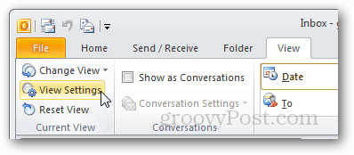 outlook 2010 view settings