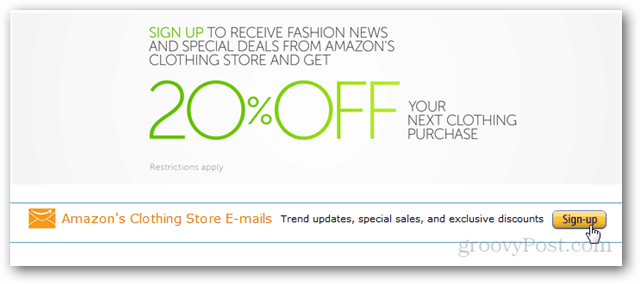 20% off coupon for amazon clothing
