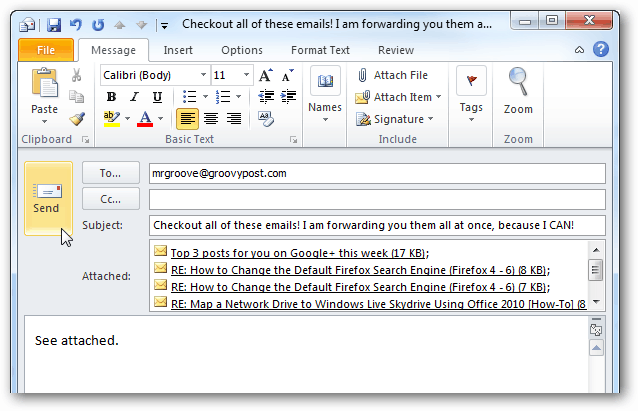 send multiple mails through outlook