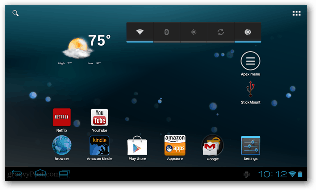 ICE Kindle Fire home screen