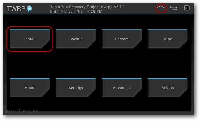 twrp rom install flash