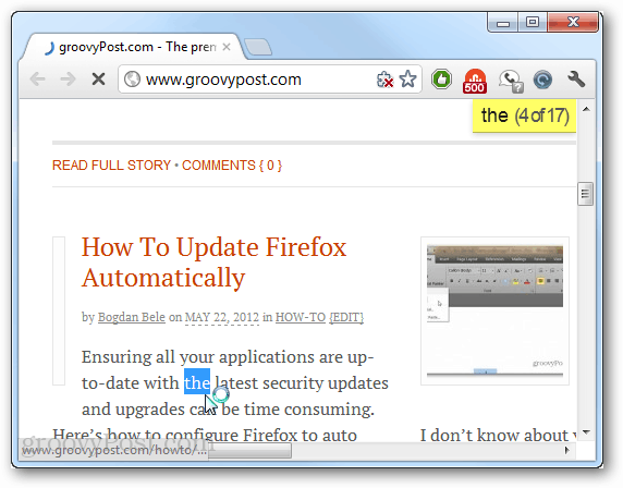 searching chrome without ctrl f