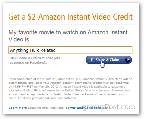 $2 amazon video credit