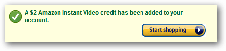 amazon video credit confirmation