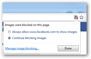 continue blocking images in chrome