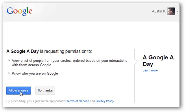 a google a day on Google+