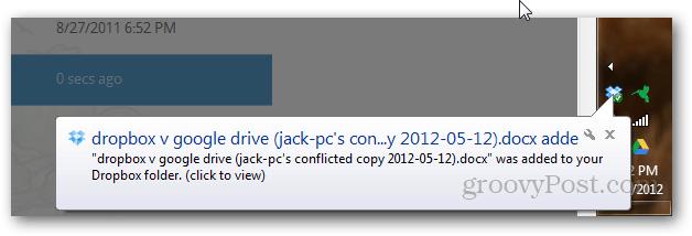 Dropbox conflicted file vs. Google Drive file collision