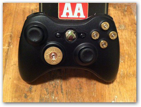 steampunk xbox 360 bullet buttons controller