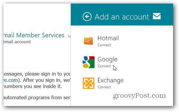 Types Of Email Accounts >> Windows 8 Metro How To Add Email Accounts