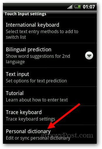 Add Dictionary Android 4