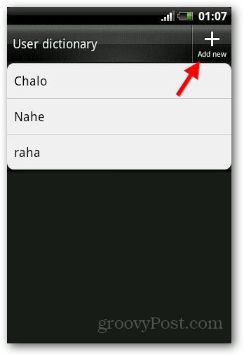 Add Dictionary Android 6