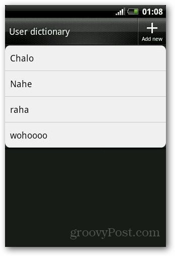 Add Dictionary Android 8