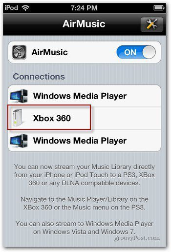 AirMusic Connections