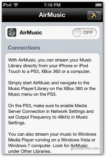 AirMusic Switch