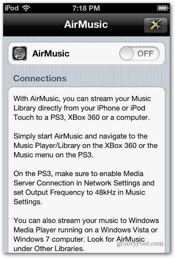 AirMusic Switch