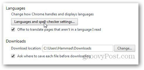 Change Chrome Language 3