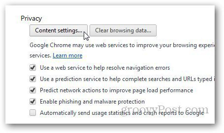 how to clear search box history in chrome