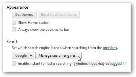 Chrome Search Engines 2