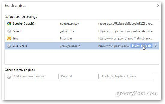 Chrome Search Engines 7