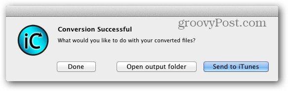 Conversion Successful