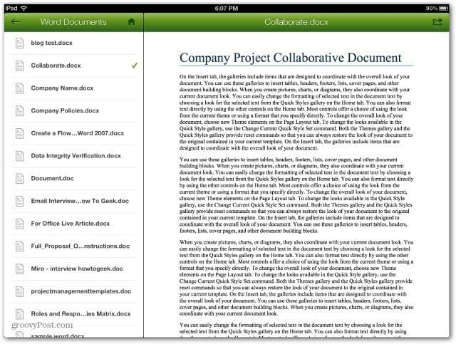 CrashPlan Recover Files iPad