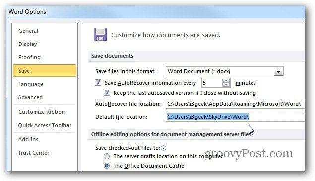 how to change default window width word mac