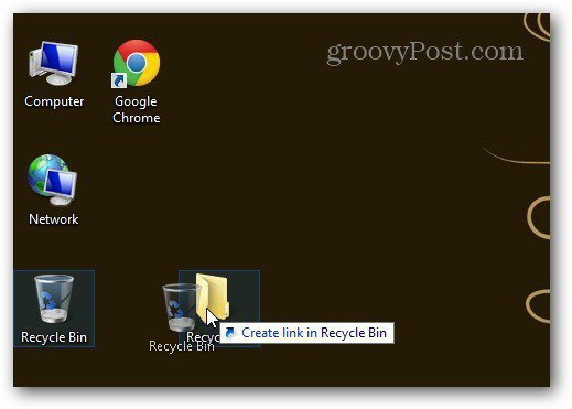 Drag Recycle Bin to New Folder