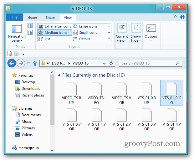 Files on Disc