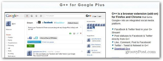 Integrate Facebook and Twitter in Google+