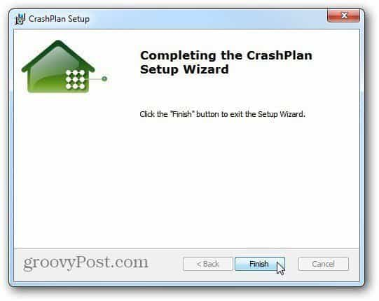 Install CrashPlan