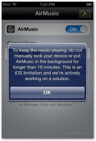 Keep Music Playing no manually lock