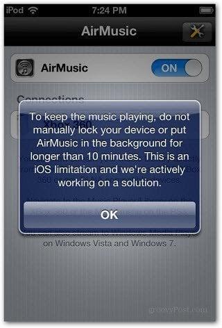 Keep Music Playing no manually lock