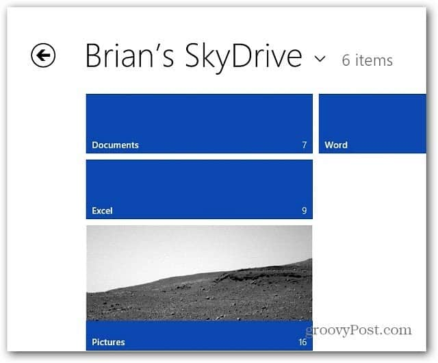 Metro Thumb View SkyDrive