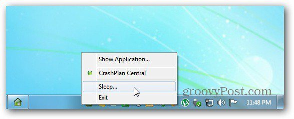 Pause or Sleep Backup