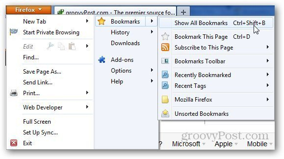 Transfer Bookmarks Firefox 1