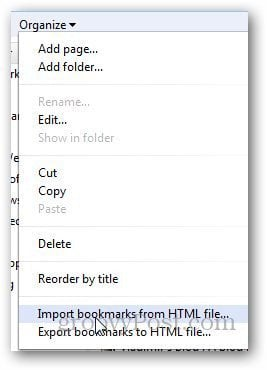 Transfer Bookmarks Firefox 5